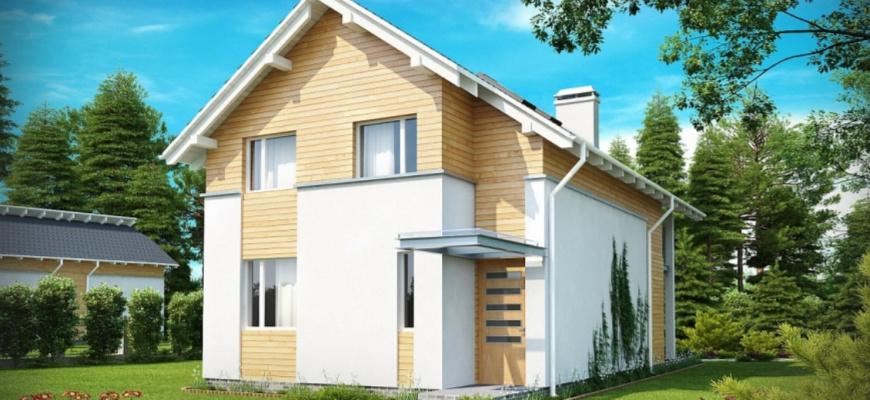 Дом для узкого участка площадью 140 кв.м. П-123