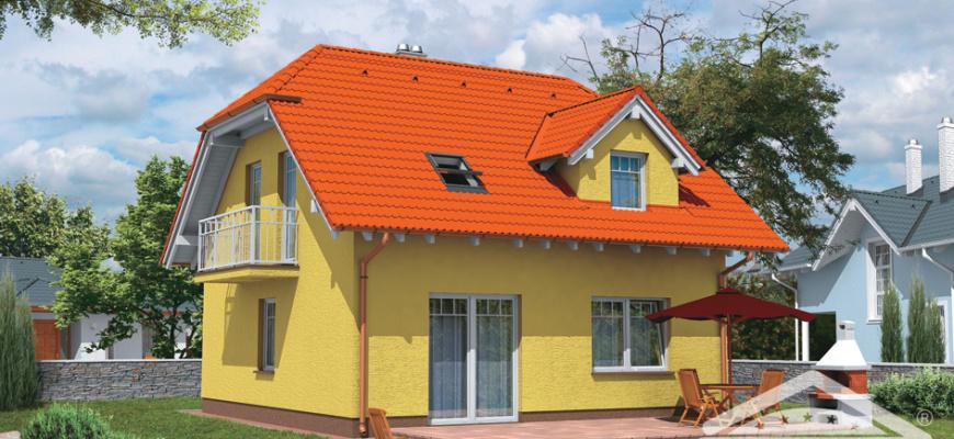Проект дома с мансардой площадью 125 кв. м. KOMPAKT 503
