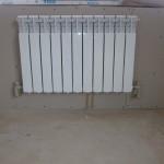 подключенный радиатор отопления