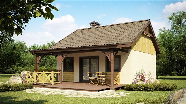 Одноэтажный каркасный дом z60